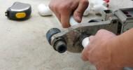 Plombier préparation tuyaux